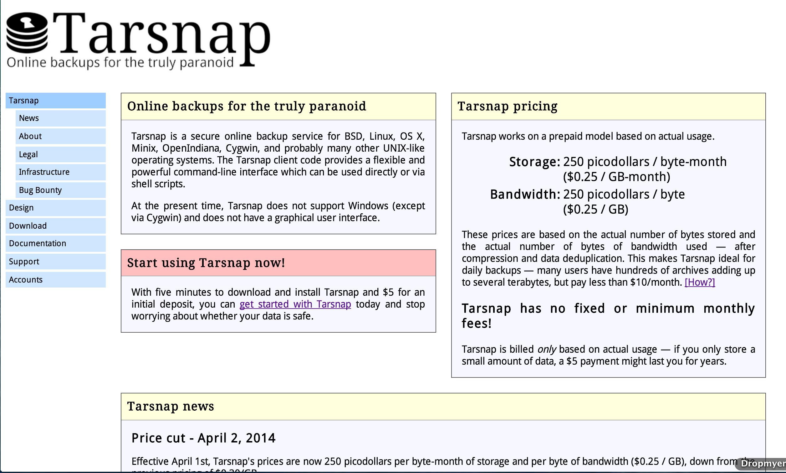 What I Would Do If I Ran Tarsnap                 |          Kalzumeus Software